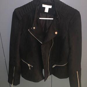 H&M Cropped Black Motorcycle Jacket